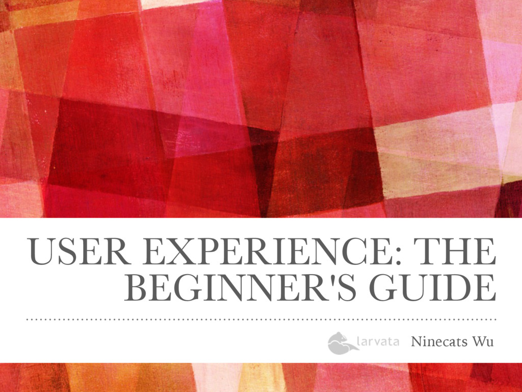 USER EXPERIENCE: THE BEGINNER'S GUIDE Ninecats ...