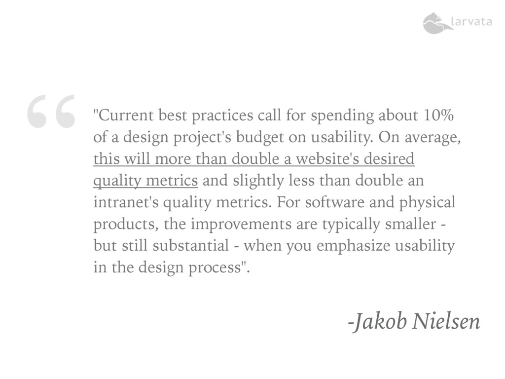 """""""""""Current best practices call for spending abou..."""
