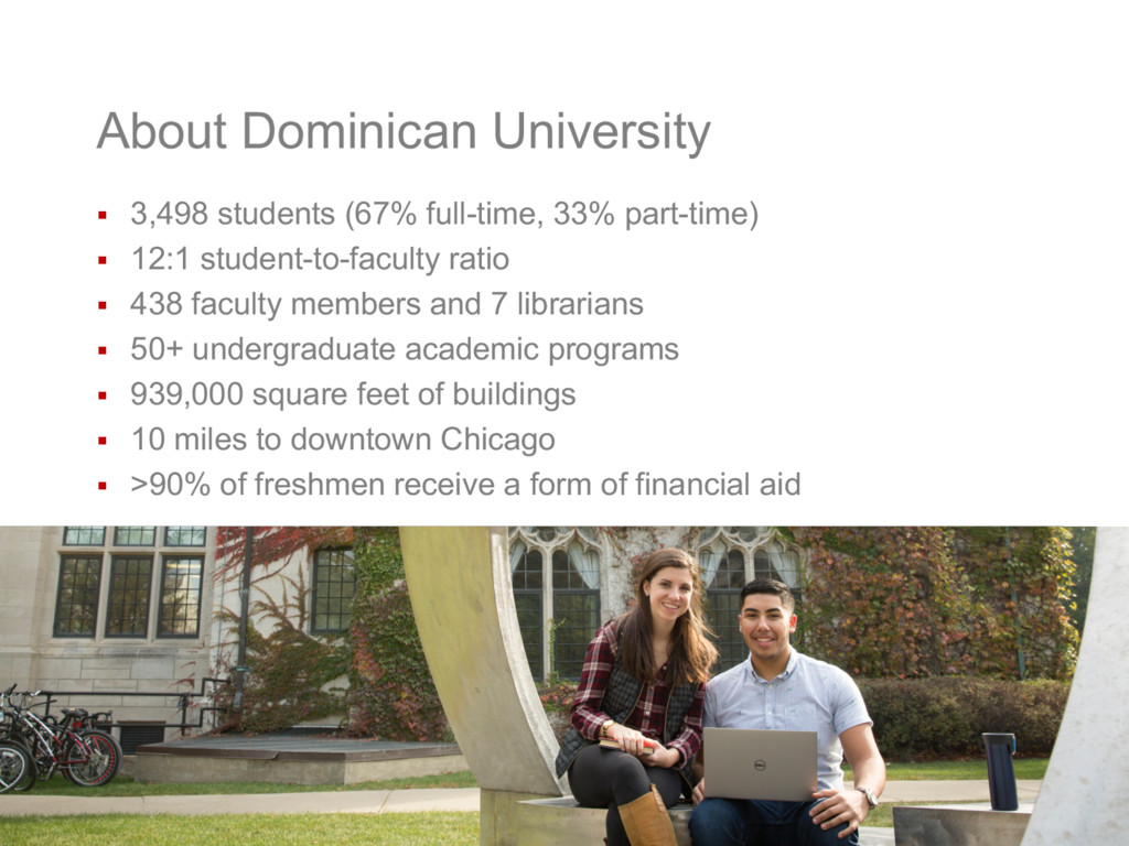 About Dominican University § 3,498 students (67...