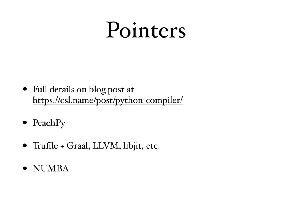 Pointers • Full details on blog post at