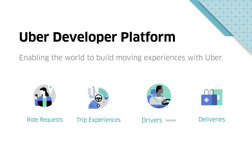 Uber Developer Platform Enabling the world to b...