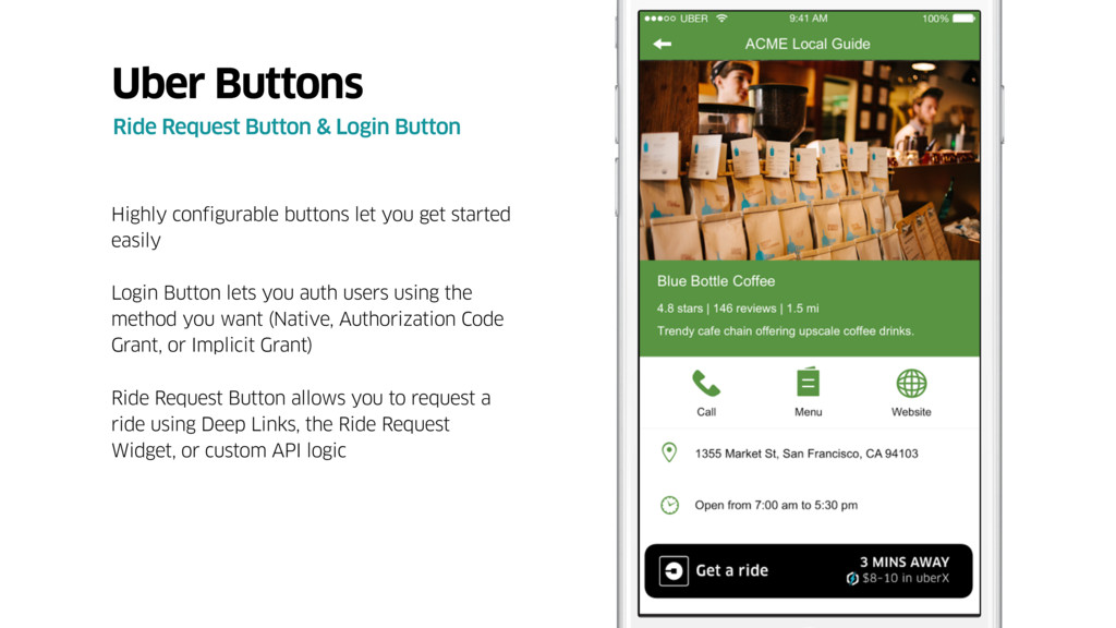 Highly configurable buttons let you get started...