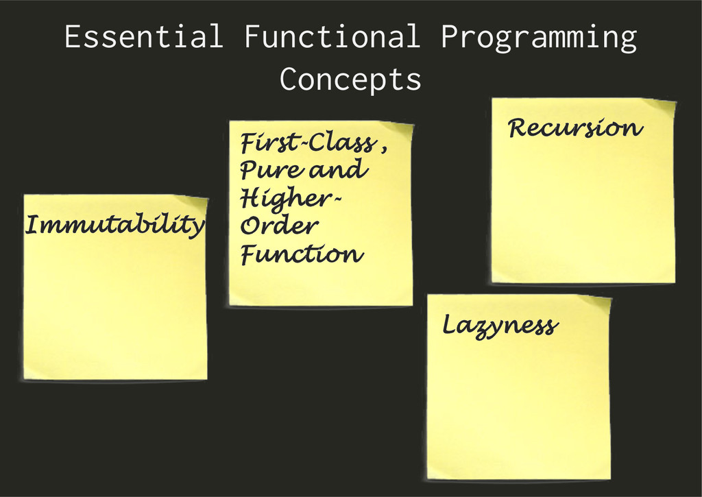 Essential Functional Programming Concepts First...