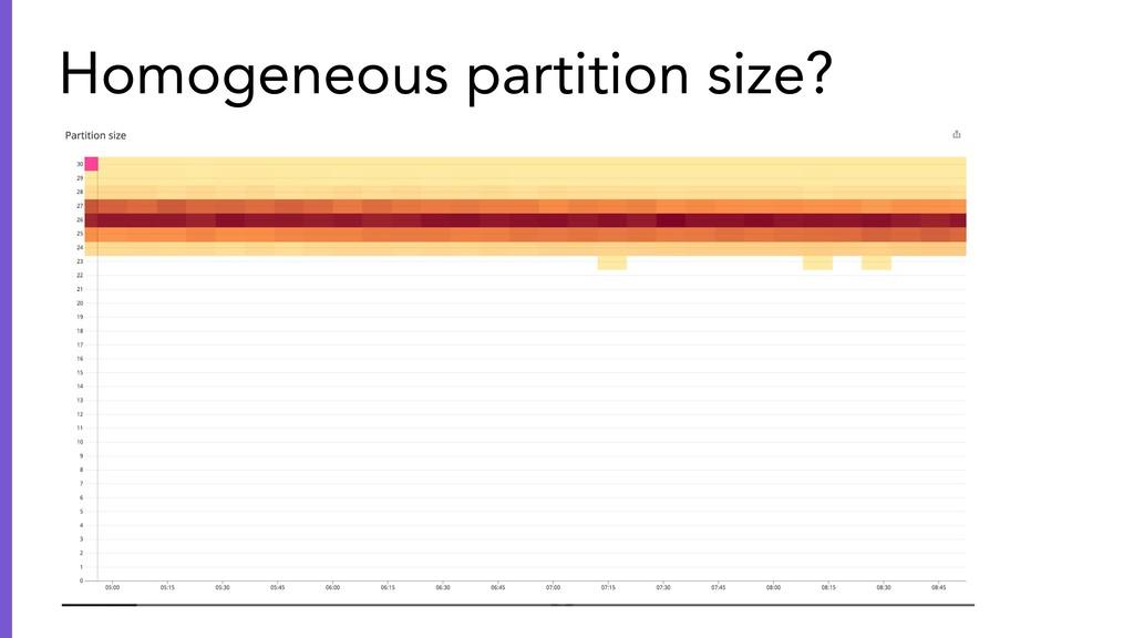 Homogeneous partition size?