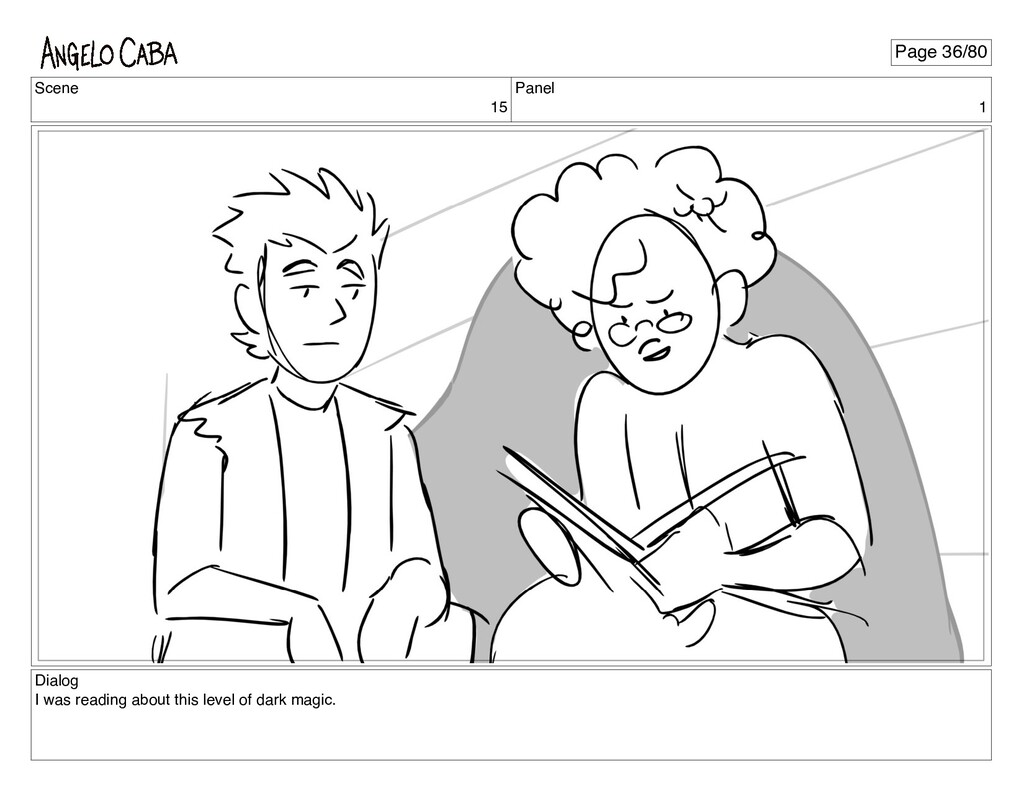 Scene 15 Panel 1 Dialog I was reading about thi...