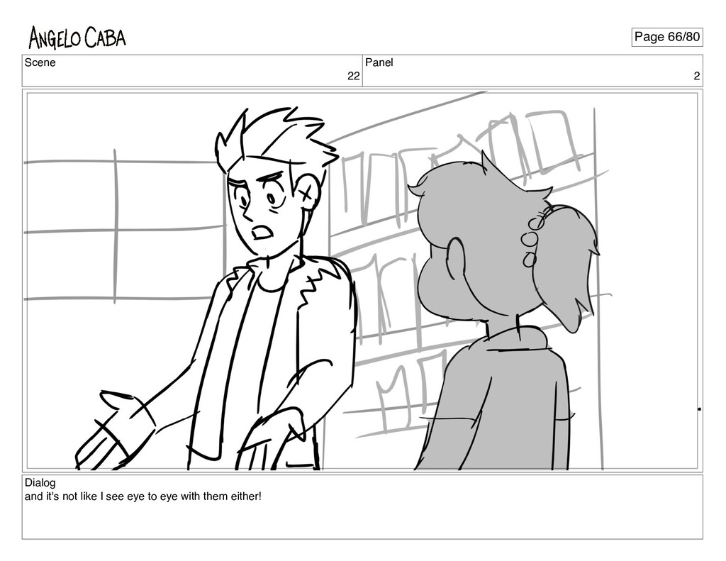 Scene 22 Panel 2 Dialog and it's not like I see...