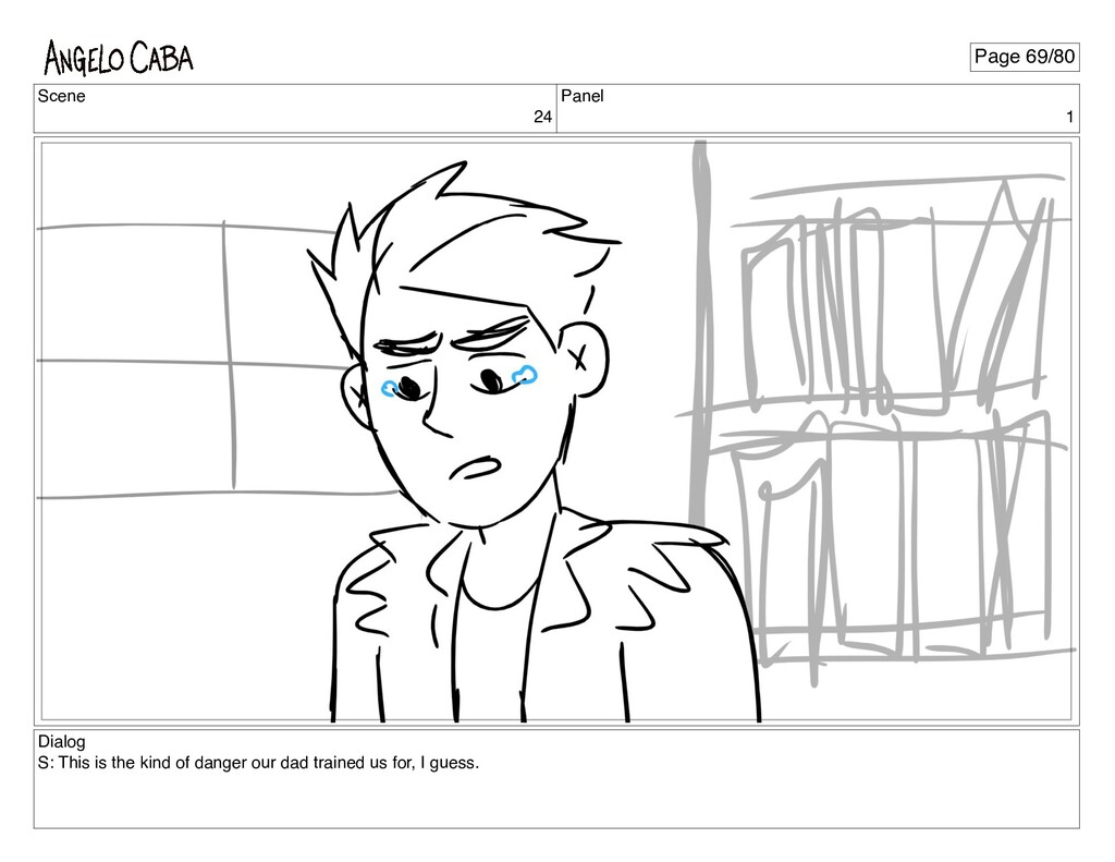Scene 24 Panel 1 Dialog S: This is the kind of ...