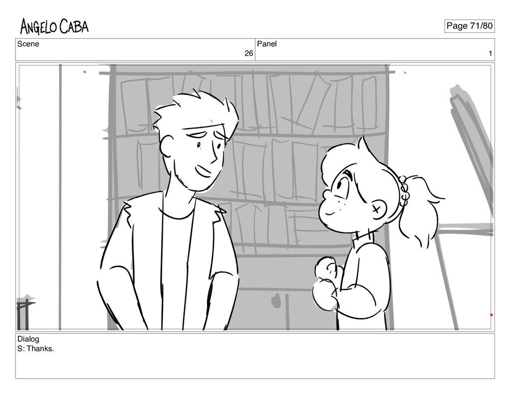 Scene 26 Panel 1 Dialog S: Thanks. Page 71/80