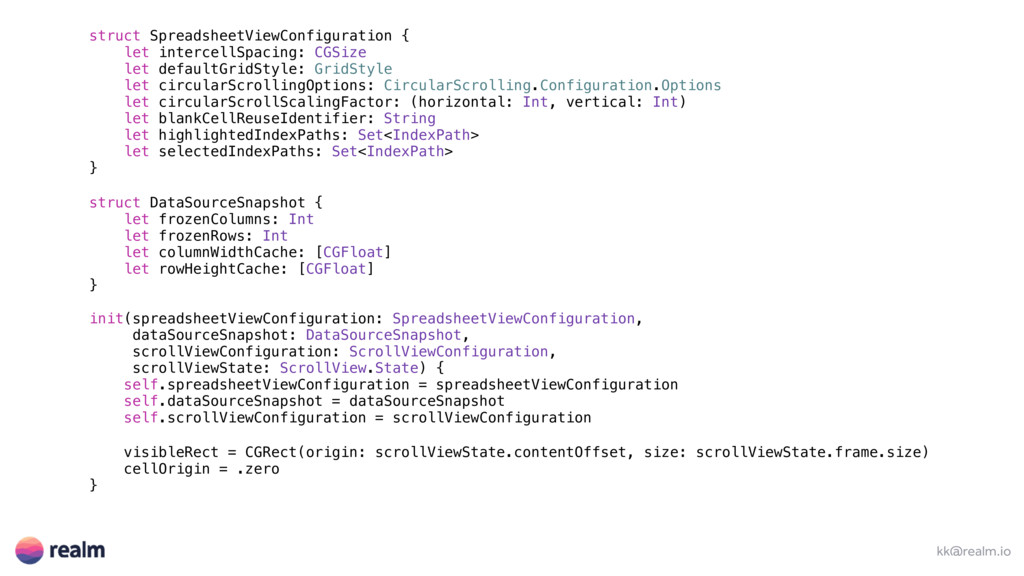 kk@realm.io struct SpreadsheetViewConfiguration...