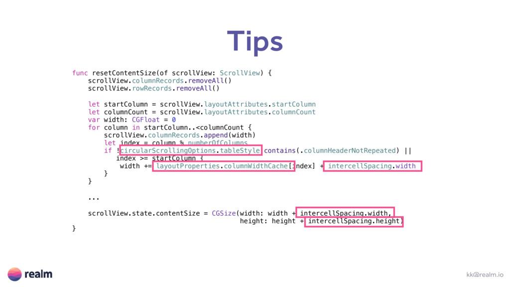 Tips kk@realm.io func resetContentSize(of scrol...