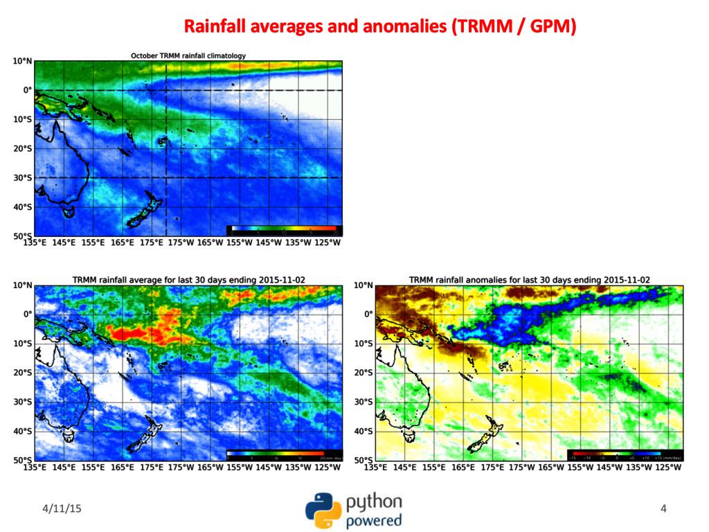 Rainfall averages and anomalies (TRMM / GPM) 4/...