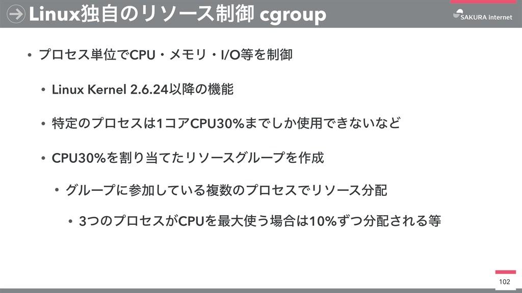 • ϓϩηε୯ҐͰCPUɾϝϞϦɾI/OΛ੍ޚ • Linux Kernel 2.6.24Ҏ...