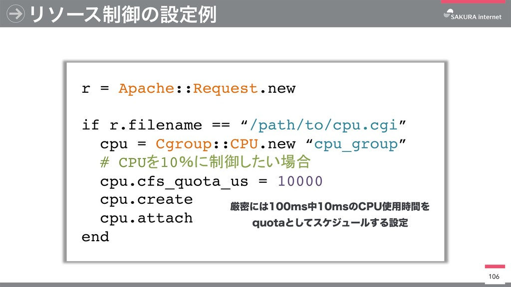 Ϧιʔε੍ޚͷઃఆྫ r = Apache::Request.new if r.filenam...