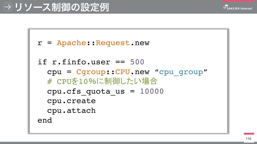 Ϧιʔε੍ޚͷઃఆྫ r = Apache::Request.new if r.finfo.u...