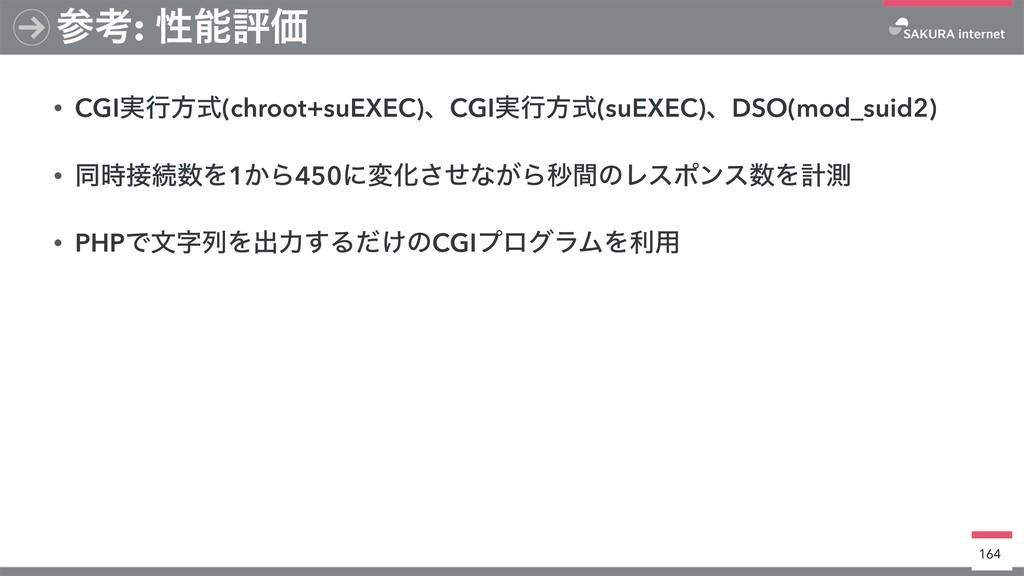• CGI࣮ߦํࣜ(chroot+suEXEC)ɺCGI࣮ߦํࣜ(suEXEC)ɺDSO(mo...
