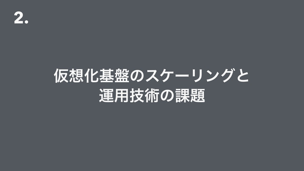 2. ԾԽج൫ͷεέʔϦϯάͱ ӡ༻ٕज़ͷ՝