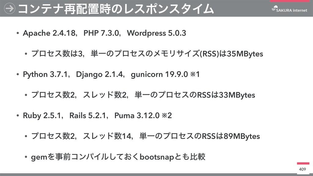 • Apache 2.4.18ɼPHP 7.3.0ɼWordpress 5.0.3 • ϓϩη...