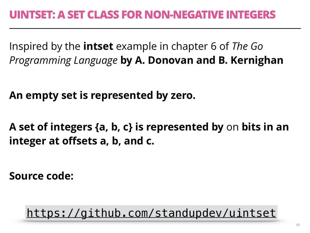 UINTSET: A SET CLASS FOR NON-NEGATIVE INTEGERS ...