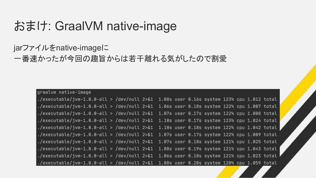 おまけ: GraalVM native-image jarファイルをnative-imageに...