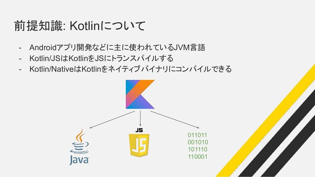 前提知識: Kotlinについて - Androidアプリ開発などに主に使われているJVM言語...