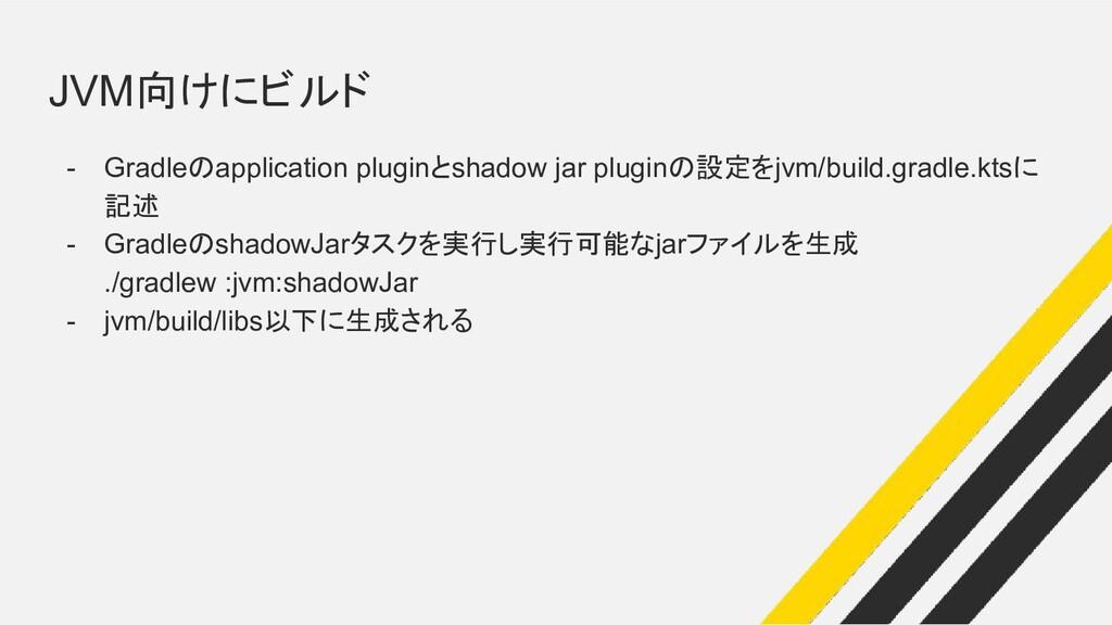 JVM向けにビルド - Gradleのapplication pluginとshadow ja...