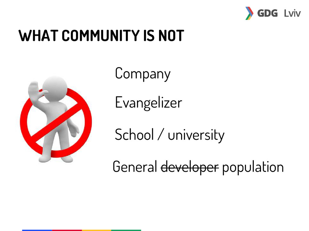 WHAT COMMUNITY IS NOT Company Evangelizer Schoo...