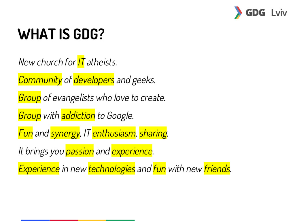 WHAT IS GDG? New church for IT atheists. Commun...