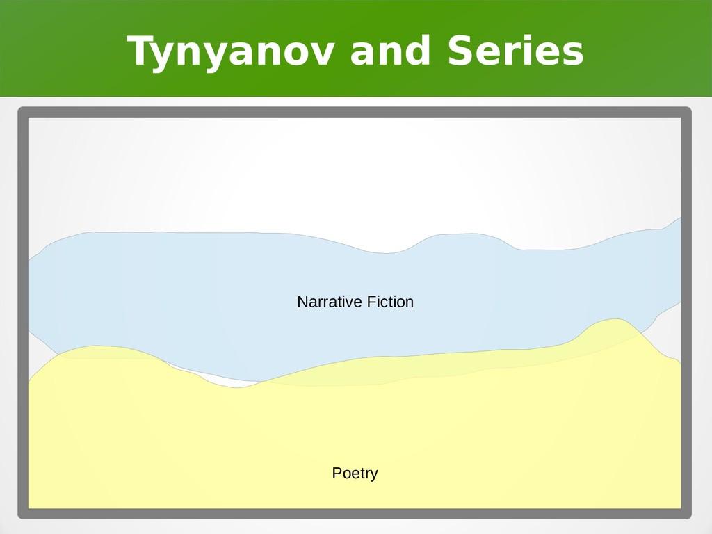 Tynyanov and Series Narrative Fiction Poetry