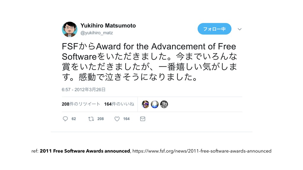 ϝοηʔδ ref: 2011 Free Software Awards announced,...