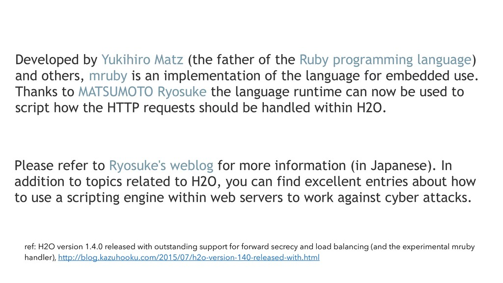 ref: H2O version 1.4.0 released with outstandin...