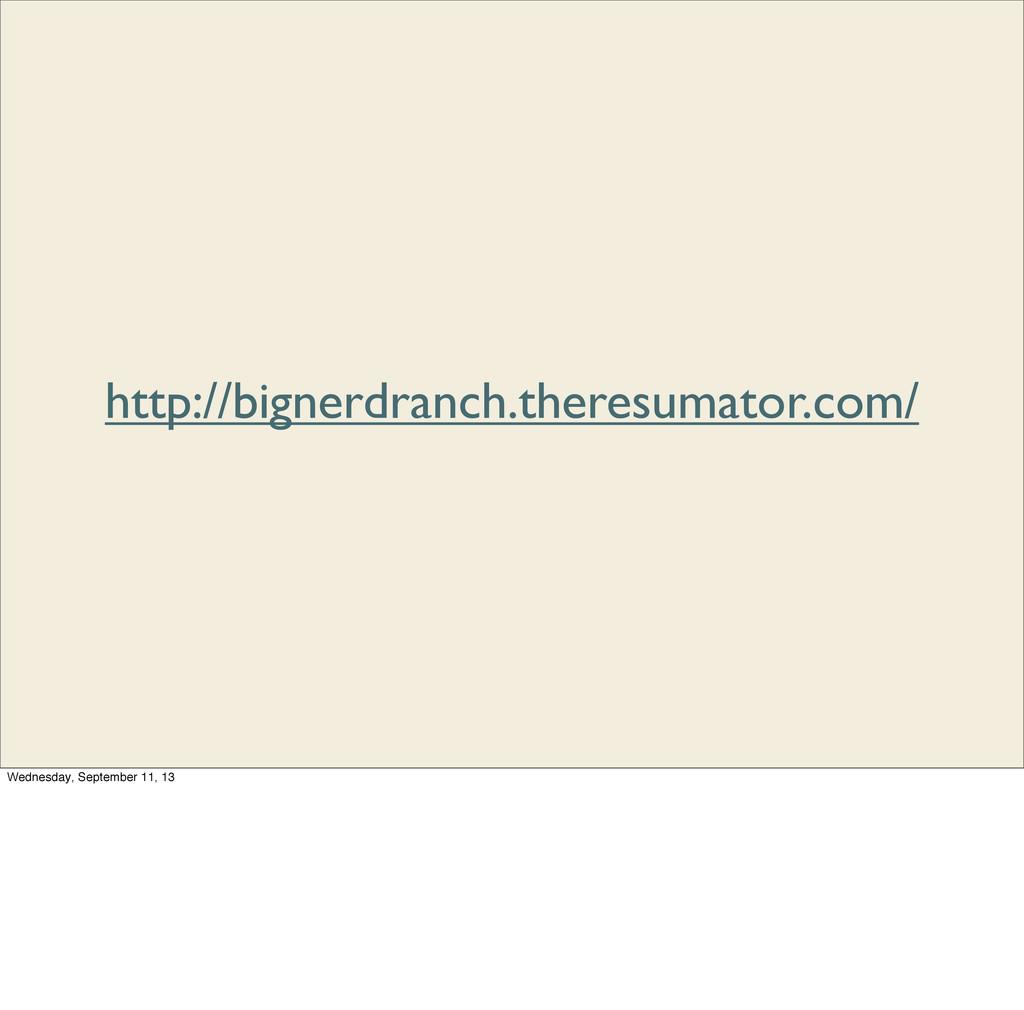 http://bignerdranch.theresumator.com/ Wednesday...
