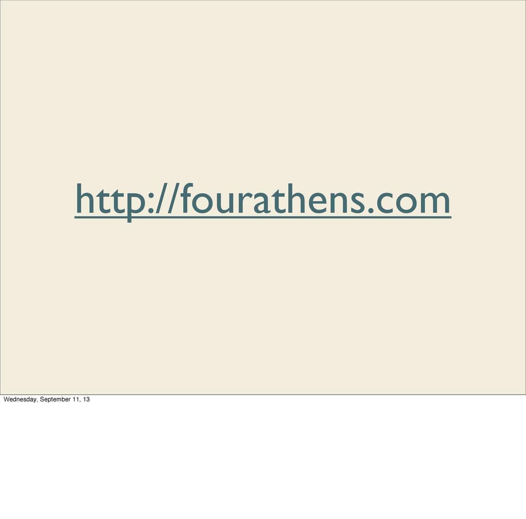 http://fourathens.com Wednesday, September 11, ...
