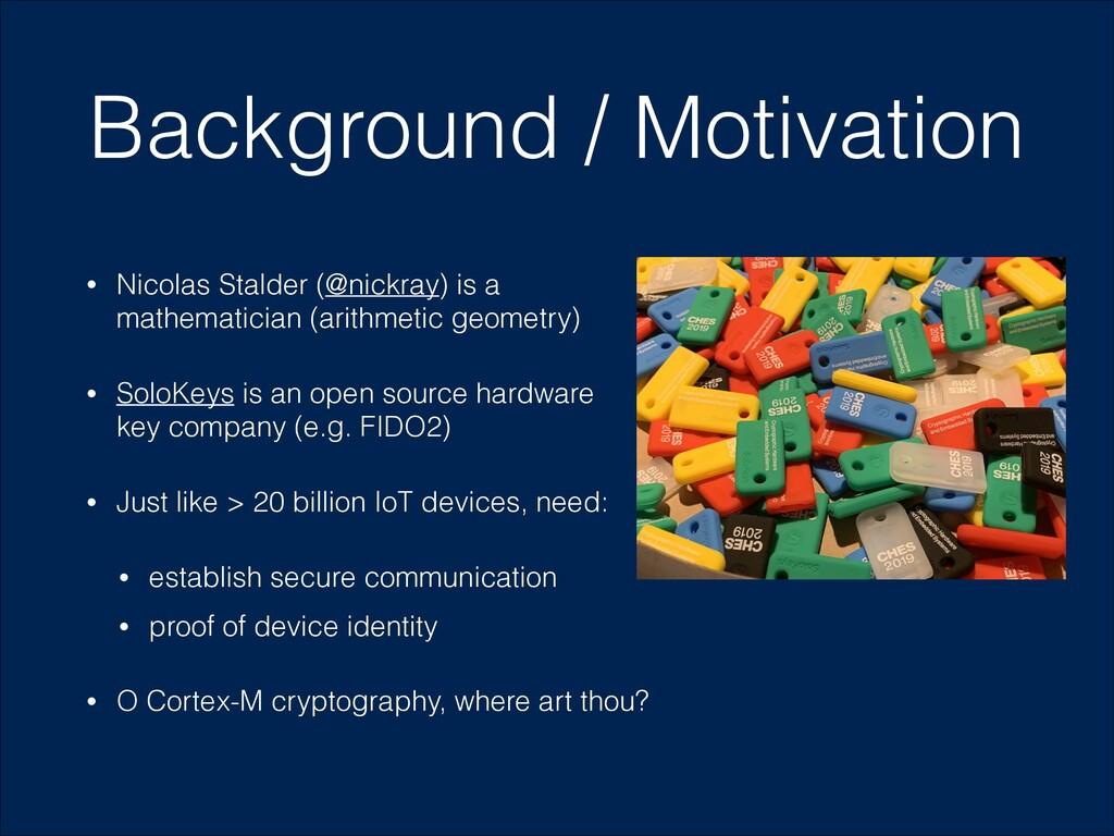 Background / Motivation • Nicolas Stalder (@nic...