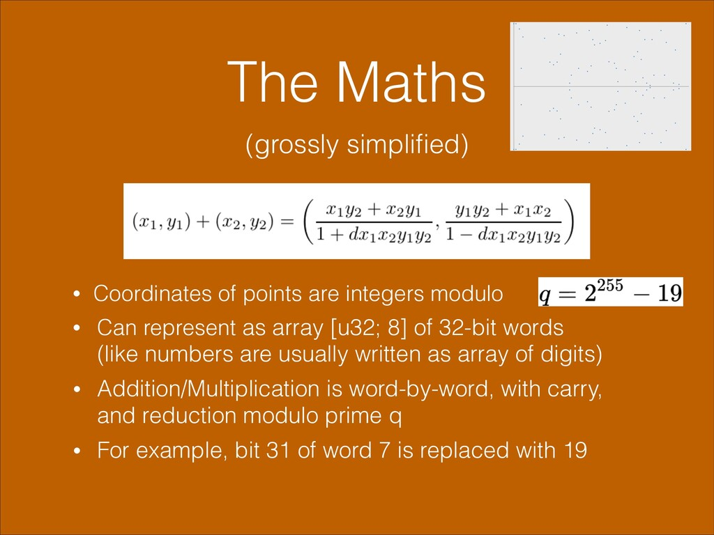 The Maths (grossly simplified) • Coordinates of ...
