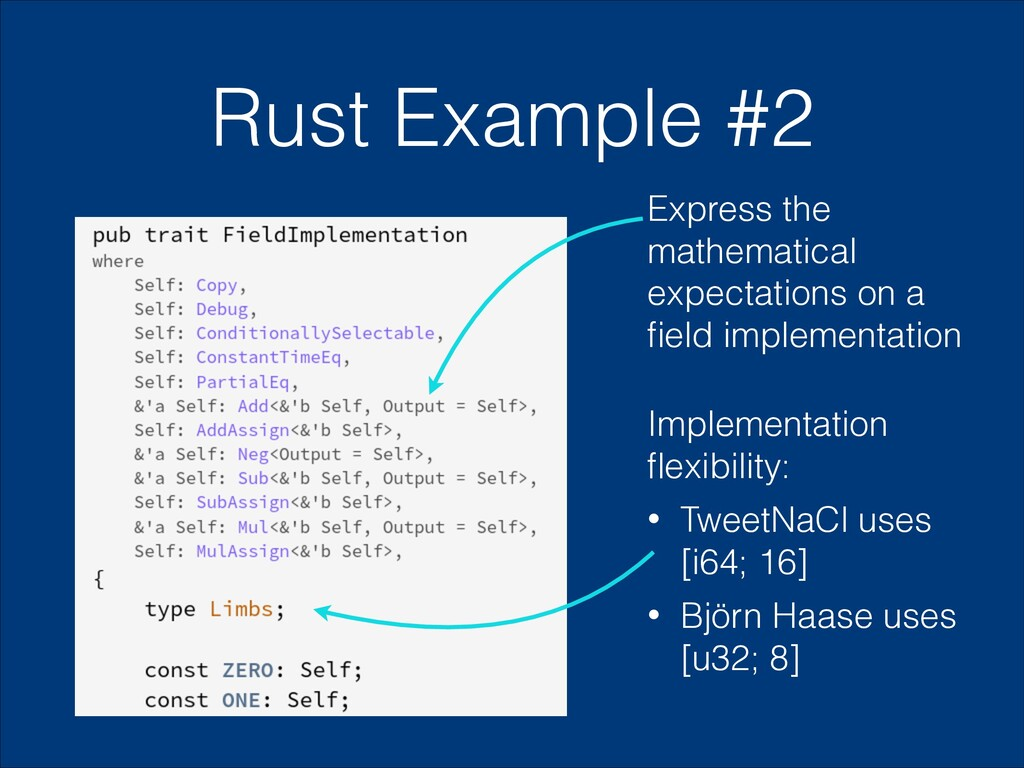 Rust Example #2 Express the mathematical expect...