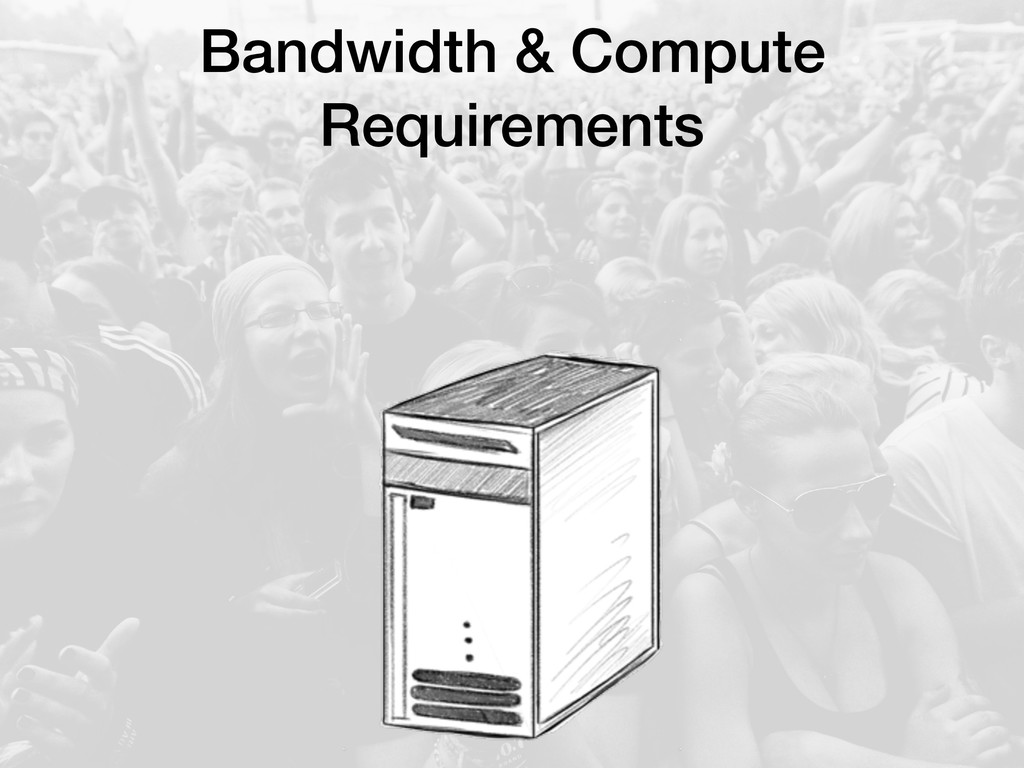 Bandwidth & Compute Requirements