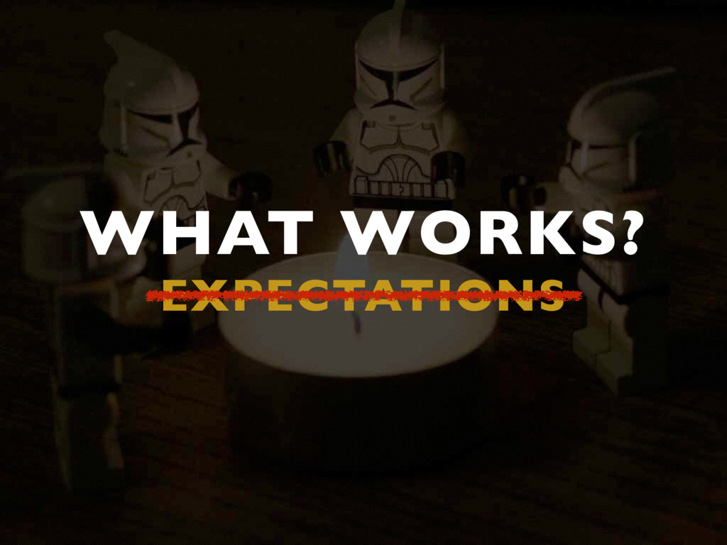WHAT WORKS? EXPECTATIONS