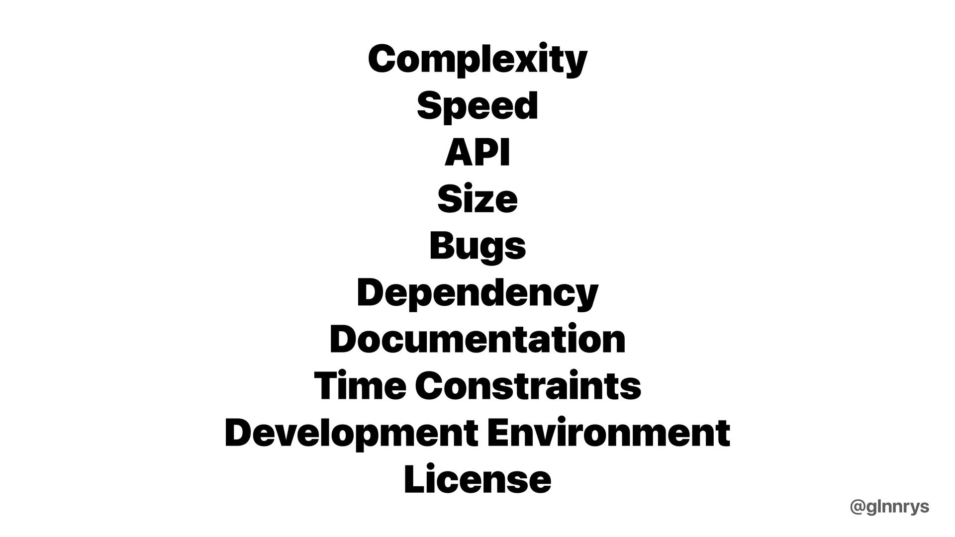 Architectural Decision @glnnrys