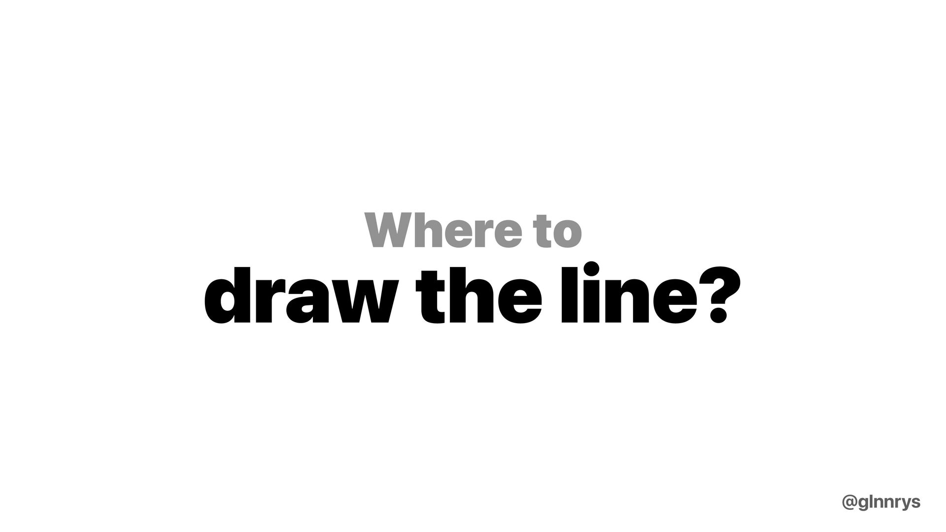 How about just roll my own? @glnnrys