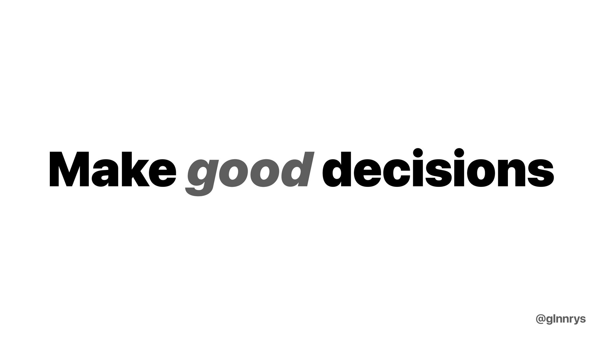Find the right balance intuitively @glnnrys