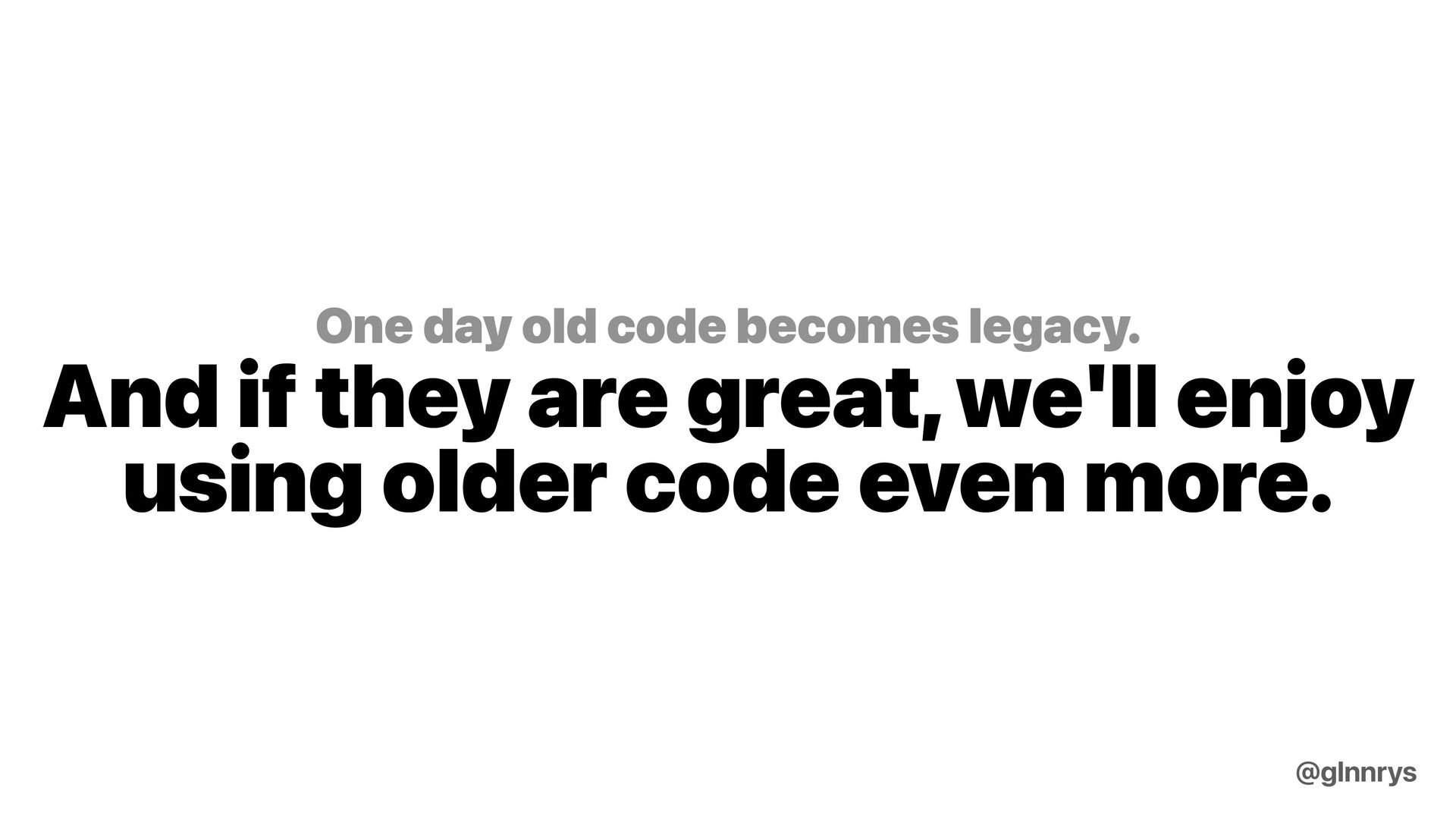 Take risks and keep moving forward @glnnrys