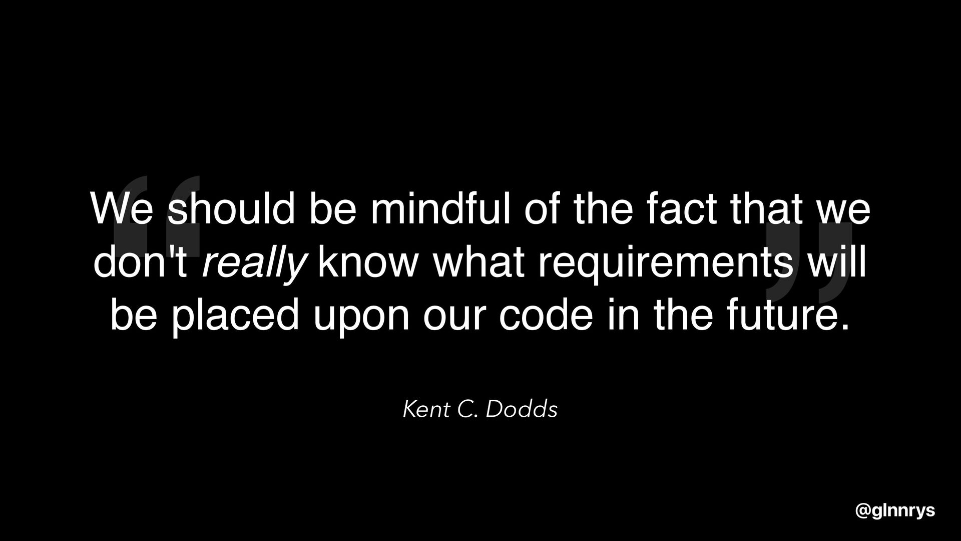 Take risks and be creative @glnnrys