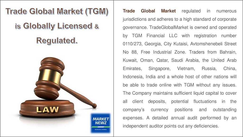 Trade Global Market regulated in numerous juris...