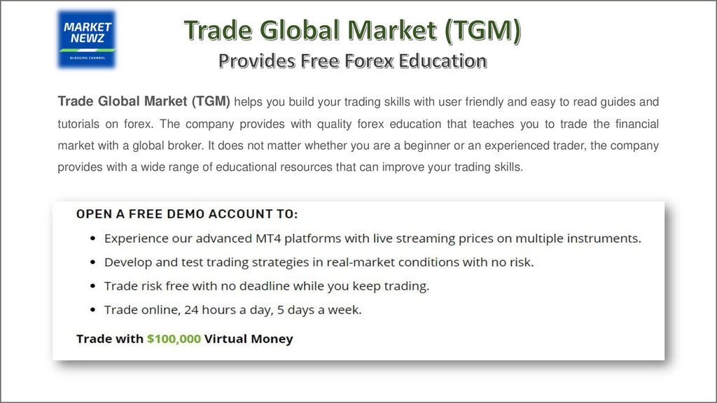Trade Global Market (TGM) helps you build your ...