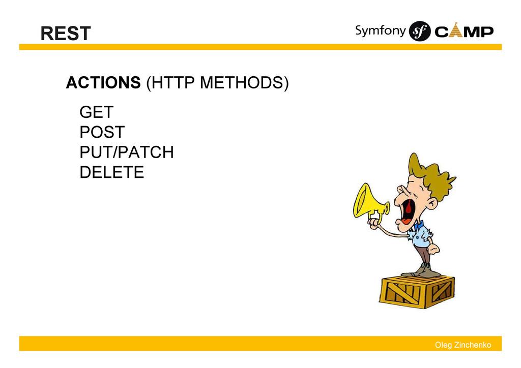 Oleg Zinchenko REST ACTIONS (HTTP METHODS) GET ...