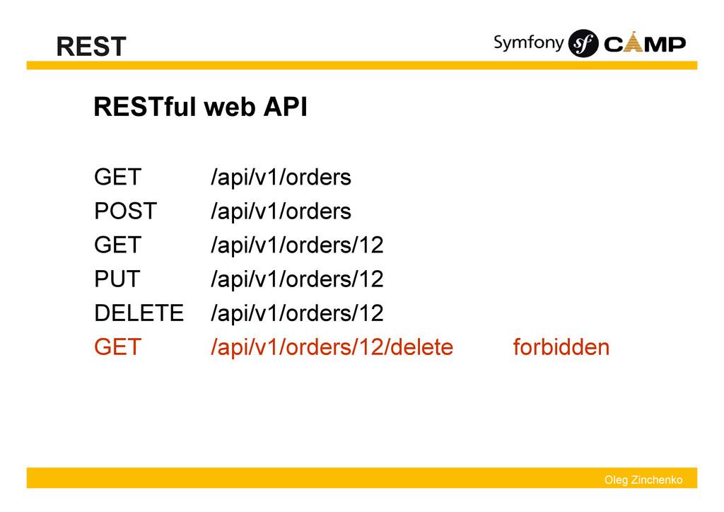 Oleg Zinchenko REST RESTful web API forbidden /...