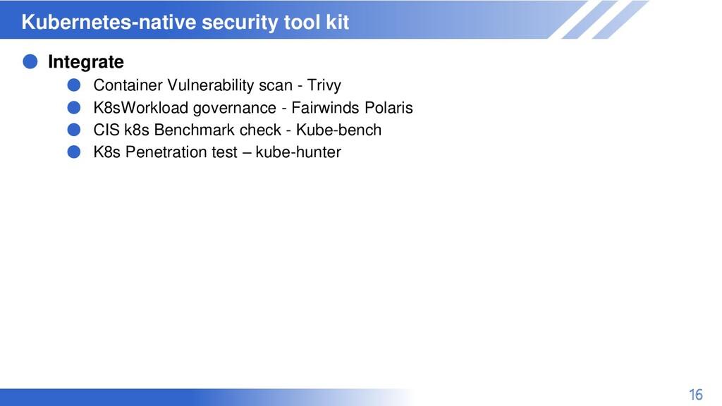 マスター タイトルの書式設定 Kubernetes-native security tool ...