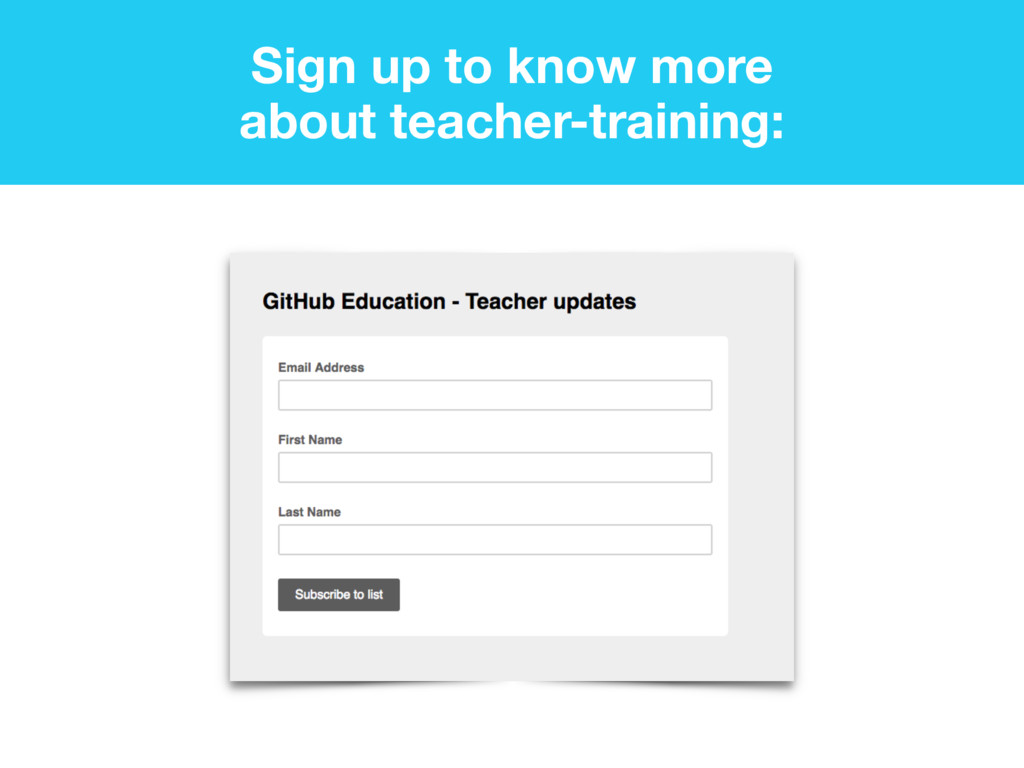 Sign up to know more about teacher-training: