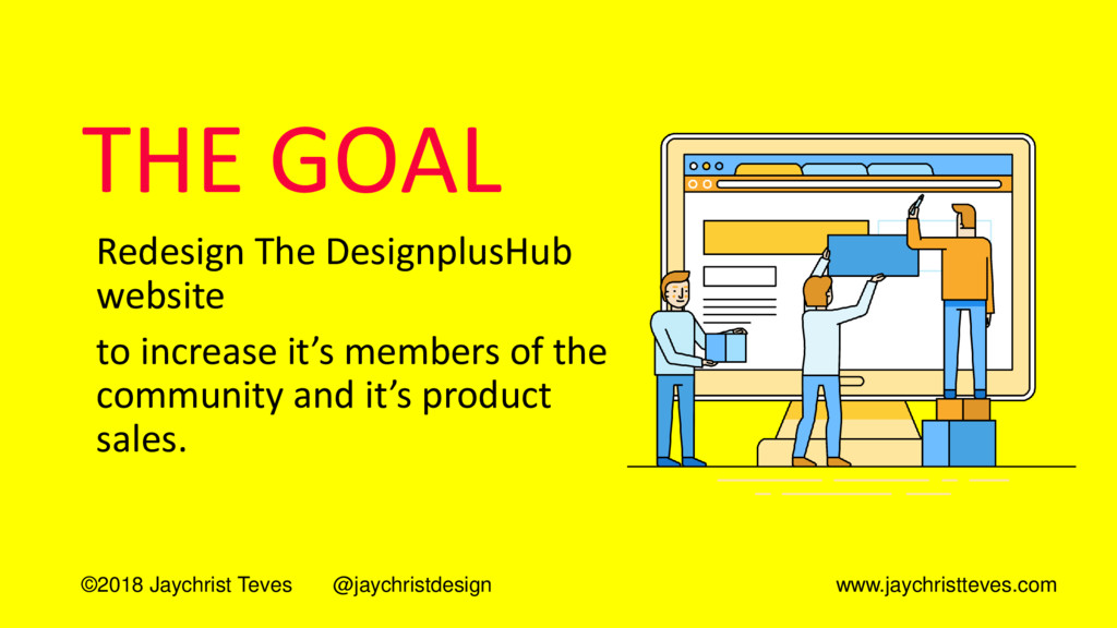 THE GOAL Redesign The DesignplusHub website to ...