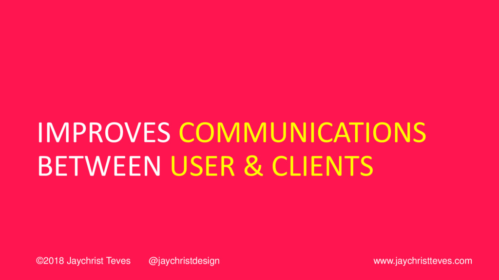 IMPROVES COMMUNICATIONS BETWEEN USER & CLIENTS ...